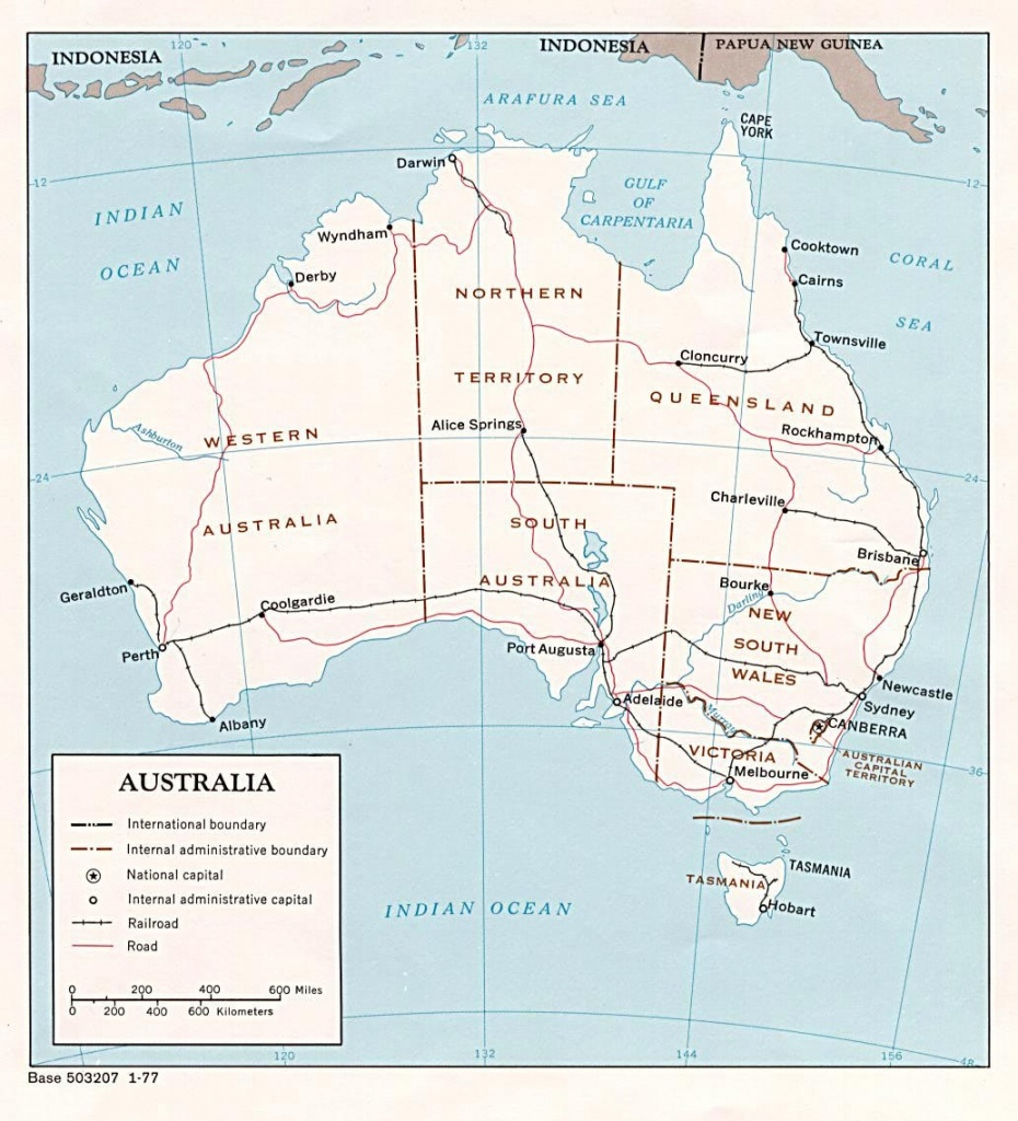 Australia Maps | Printable Maps Of Australia For Download - Free Printable Map Of Australia
