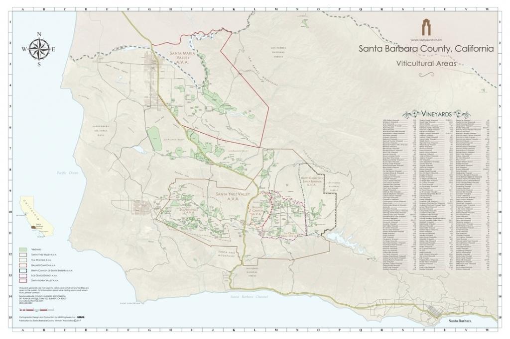 Ava Maps - Santa Barbara Vintners - Santa Barbara California Map
