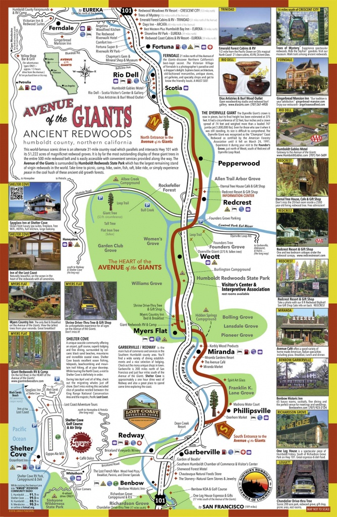 Avenue Of The Giants Map   Sustrainability - Avenue Of The Giants California Map