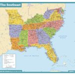 Awesome Us Map Southeast Printable Map Of Se Usa 1 | Passportstatus.co   Printable Map Of Southeast Us
