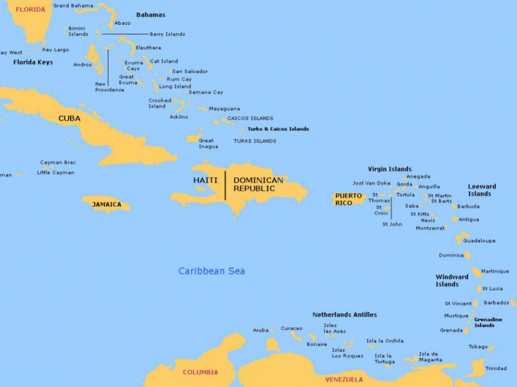 Bahamas And Caribbean Passage And Route Planner - Map Of Florida And Bahamas