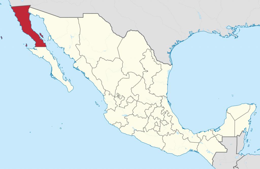 Baja California - Wikipedia - San Quintin Baja California Map