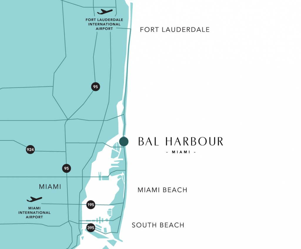 Bal Harbour Map And Guide To Hotels Near South Beach, Miami - Map Of South Beach Miami Florida