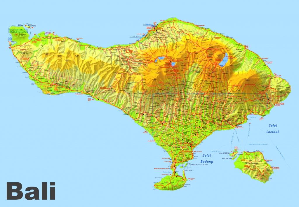 Bali Maps   Indonesia   Maps Of Bali Island - Printable Map Of Bali