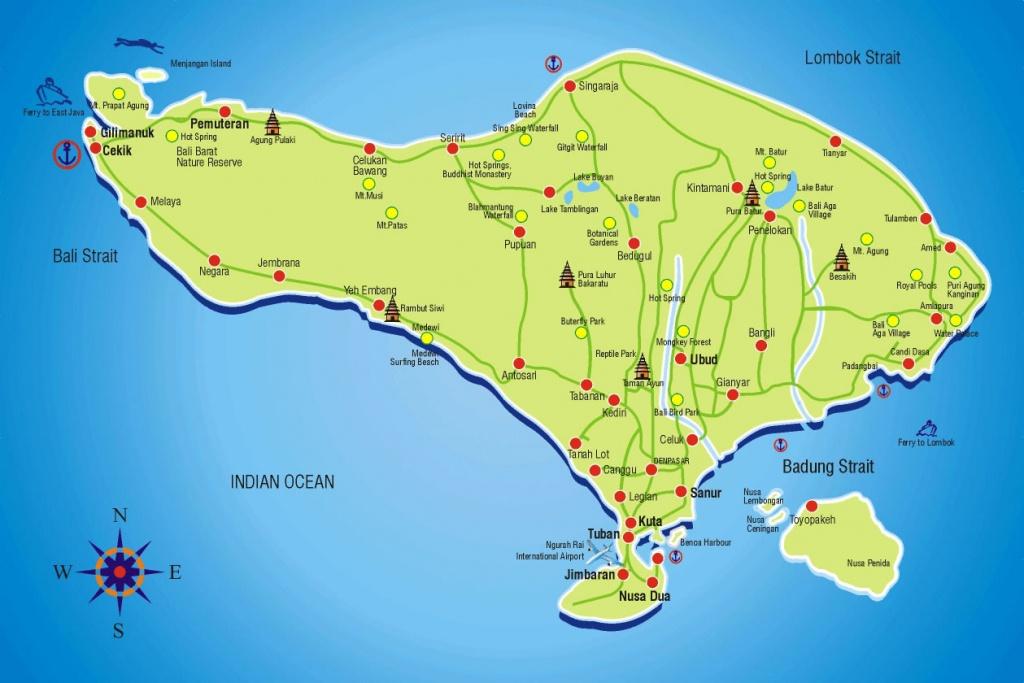Bali Tourism Board   About Bali   Bali Map - Printable Map Of Bali