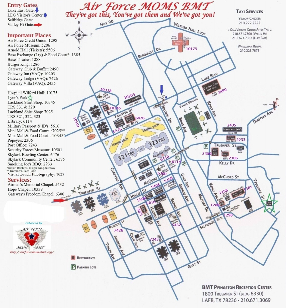 Bame Map With Building Numbers   San Antonio   Lackland Air Force - Lackland Texas Map