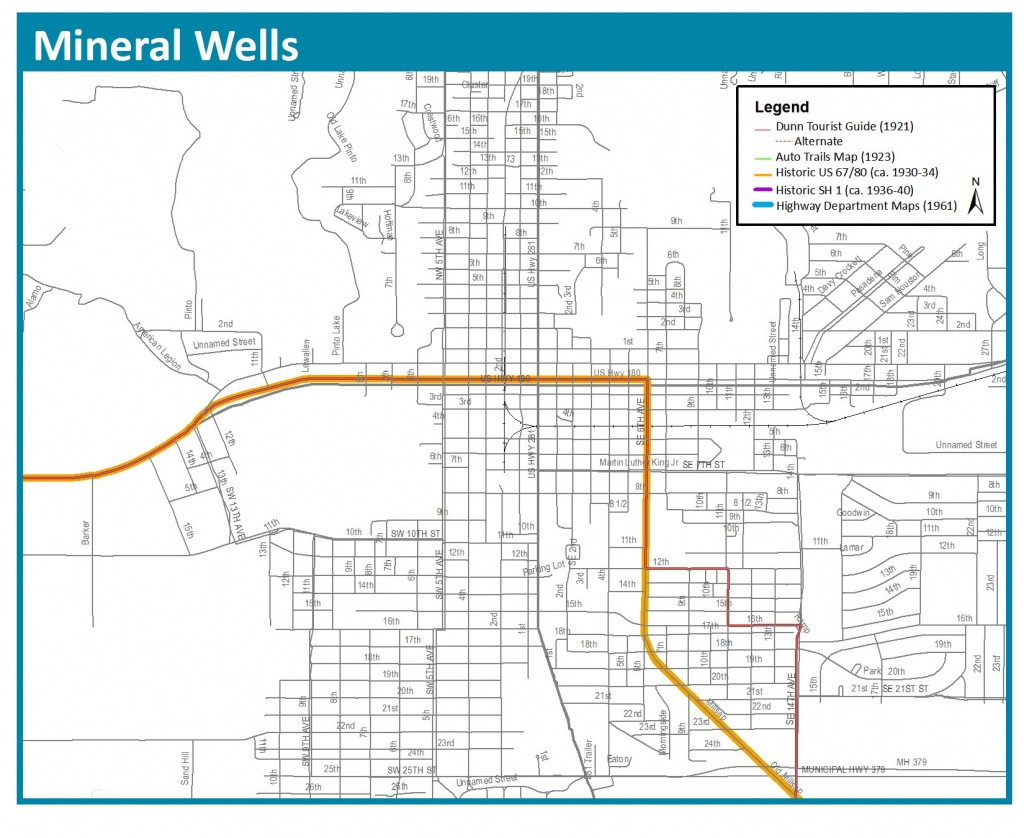 Bankhead Highway Maps   Thc.texas.gov - Texas Historical Commission - Mineral Wells Texas Map