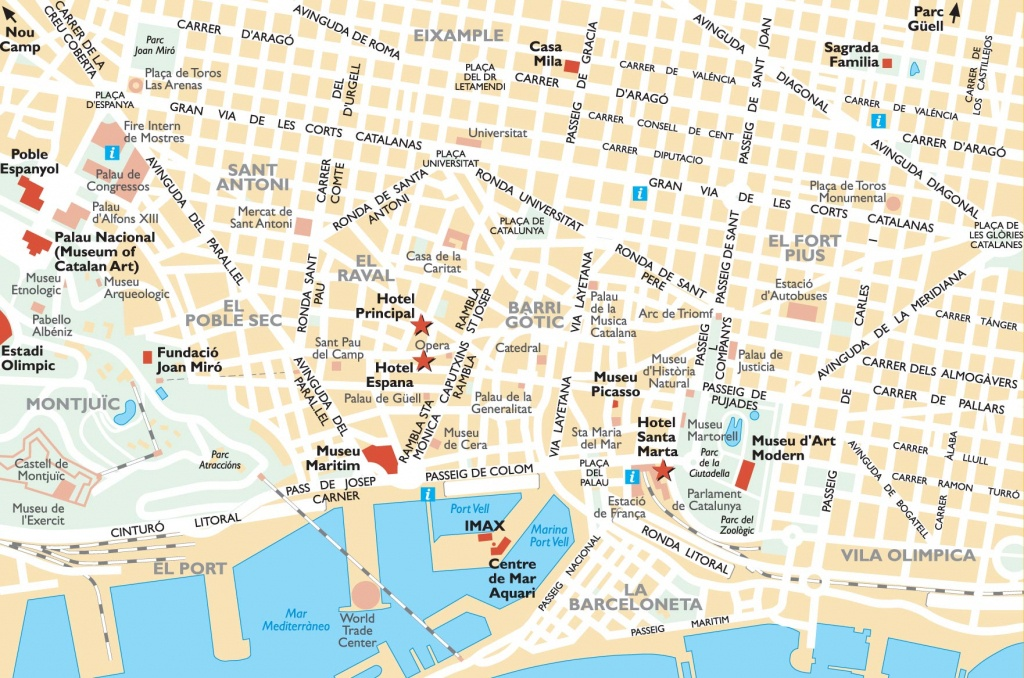 Barcelona Attractions Map Pdf - Free Printable Tourist Map Barcelona - Barcelona City Map Printable