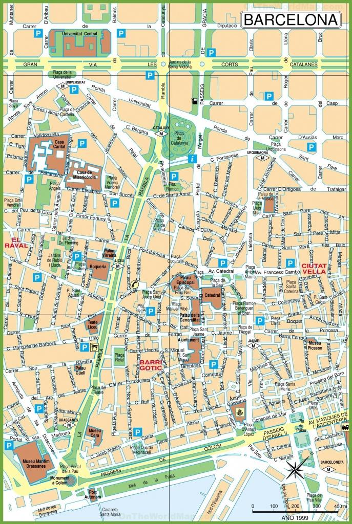 Barcelona City Center Map - City Map Of Barcelona Printable