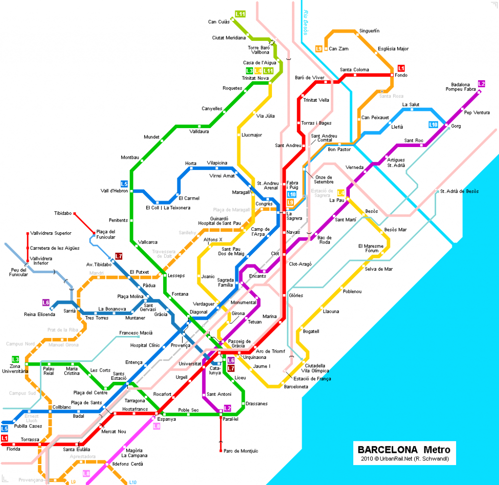 Barcelona Subway Map For Download | Metro In Barcelona - High - Metro Map Barcelona Printable