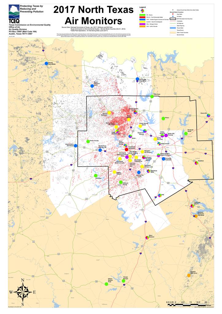 Barnett Shale Maps And Charts - Tceq - Www.tceq.texas.gov - Texas Air Quality Map