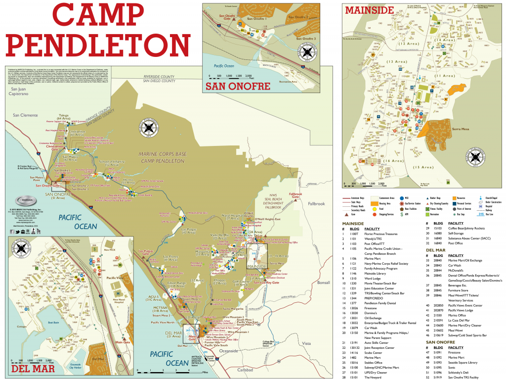 Base Maps — Mccs Camp Pendleton - Where Is Del Mar California On The Map