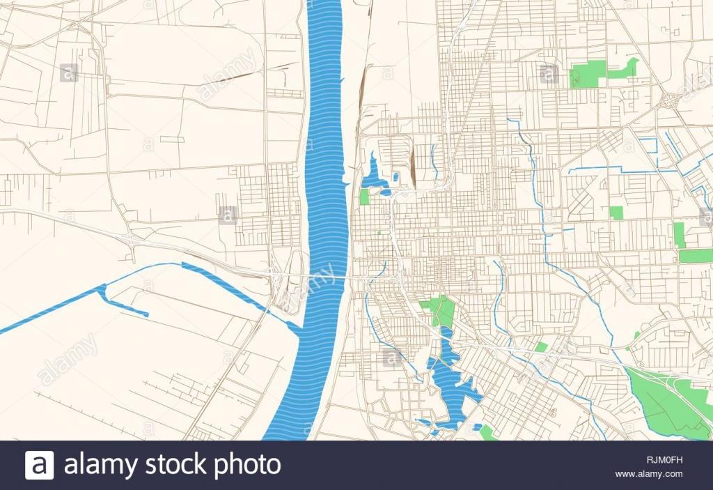 Baton Rouge Louisiana Printable Map Excerpt. This Vector Streetmap - Printable Map Of Baton Rouge