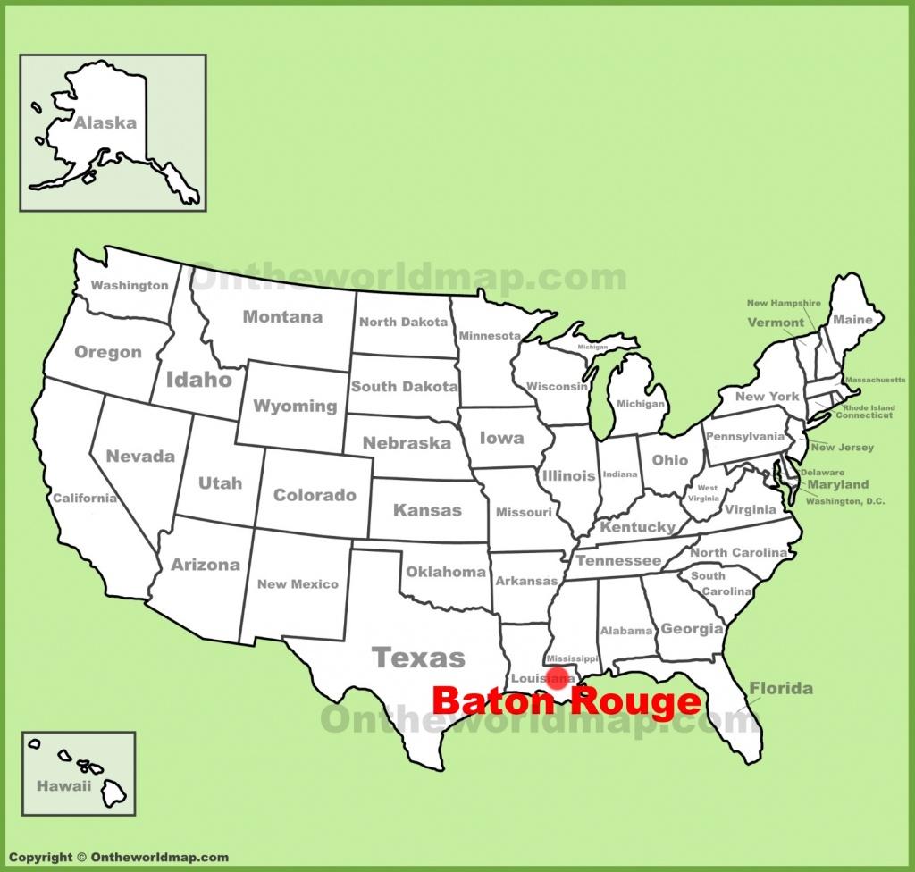Baton Rouge Maps | Louisiana, U.s. | Maps Of Baton Rouge - Printable Map Of Baton Rouge