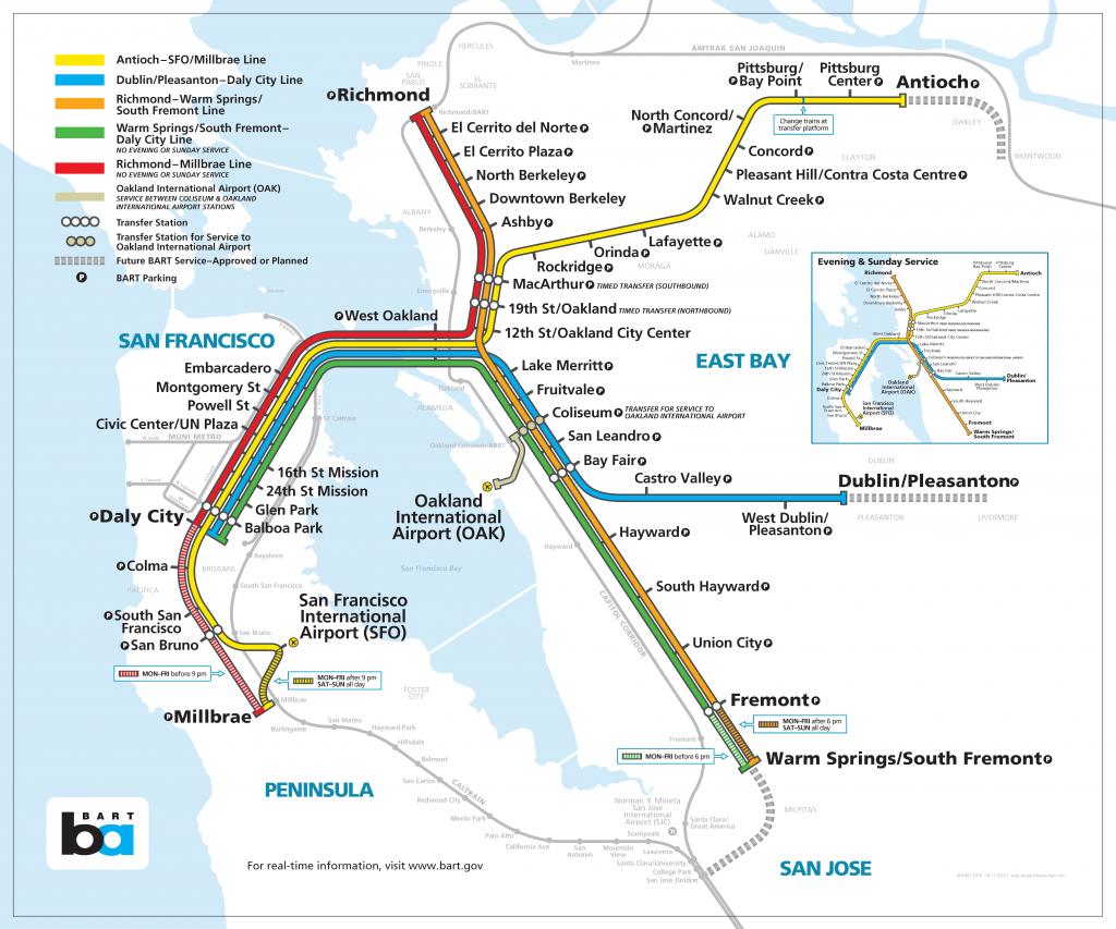 Bay Area Rapid Transit Expansion - Wikipedia - Printable Bart Map
