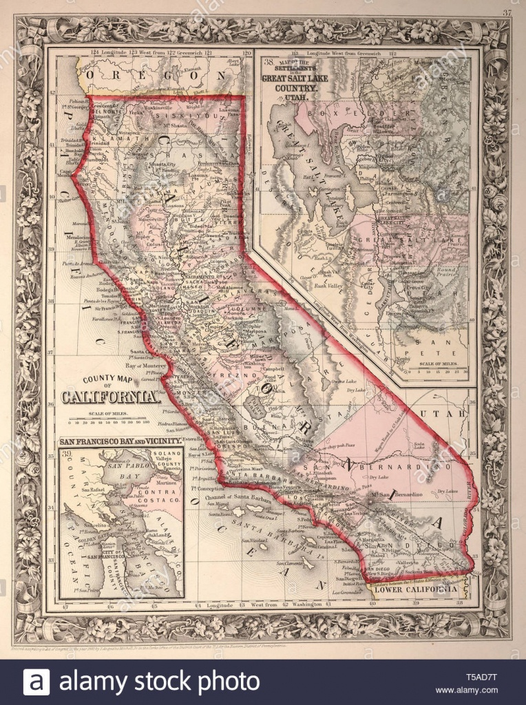 Beautiful Vintage Hand Drawn Map Illustrations Of California From - California Map Book