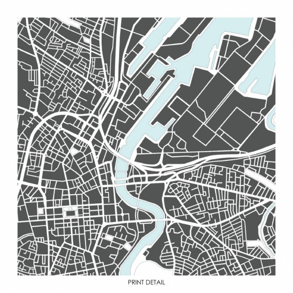 Belfast Map Art Prints Limited Editionsbronagh Kennedy - Art - Belfast City Map Printable