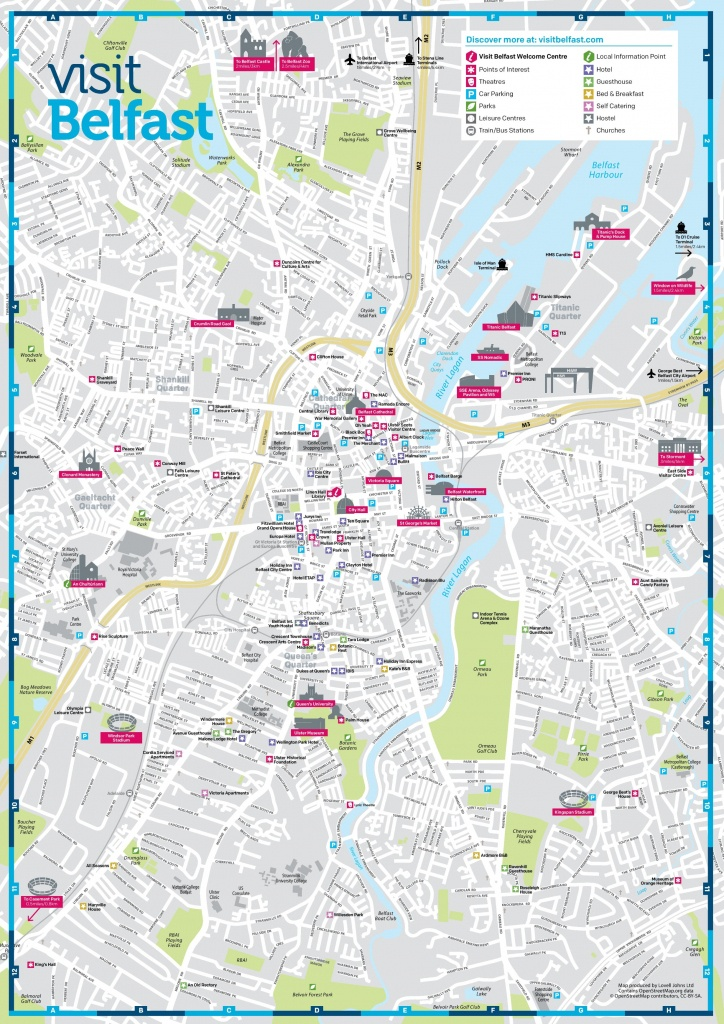 Belfast Sightseeing Map - Belfast City Centre Map Printable