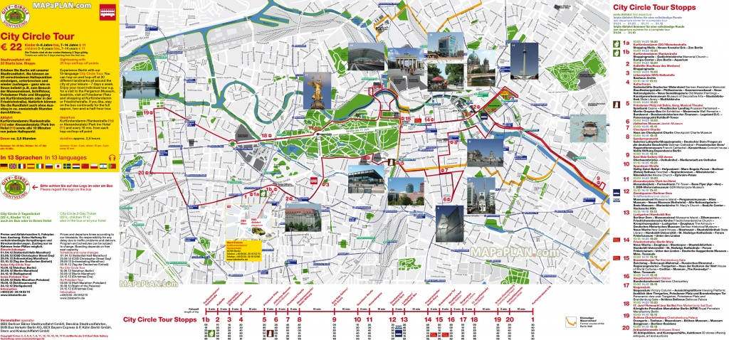 Berlin Maps - Top Tourist Attractions - Free, Printable City Street Map - Berlin Tourist Map Printable