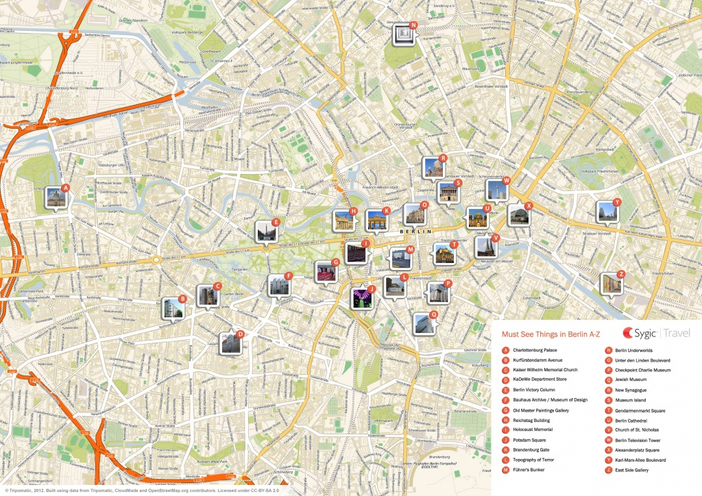 Berlin Printable Tourist Map | Sygic Travel - Printable Map Of Berlin