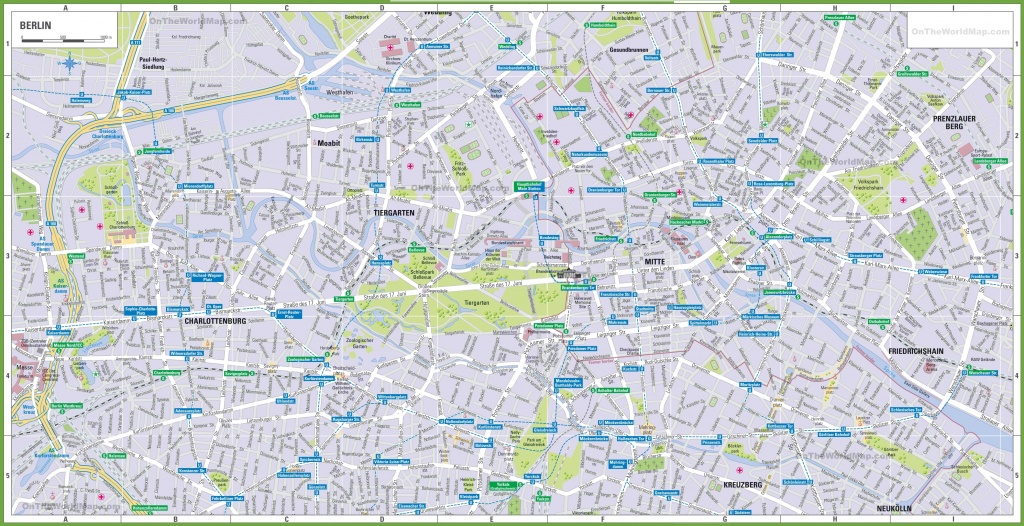 Berlin Tourist Map - Printable Map Of Berlin