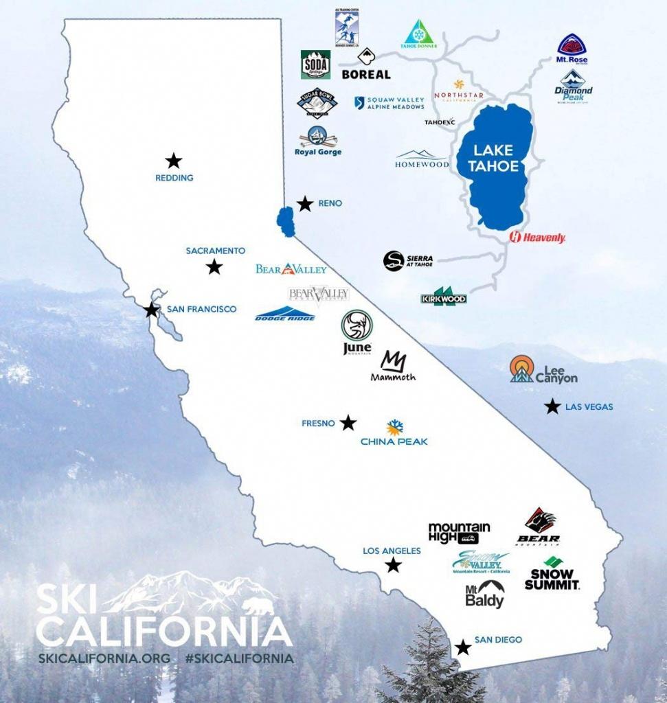 Best California Ski Resorts - Ski California - Nevada Ski Resorts - California Ski Resorts Map