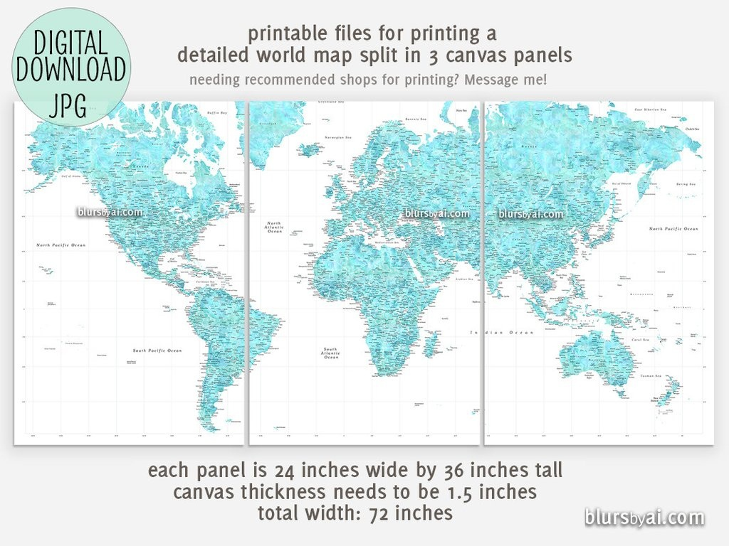 Best Crazy Large Map Print   Isabella - Large Printable Maps