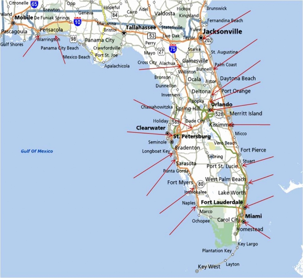 Best East Coast Florida Beaches New Map Florida West Coast Florida - Best Beaches Gulf Coast Florida Map