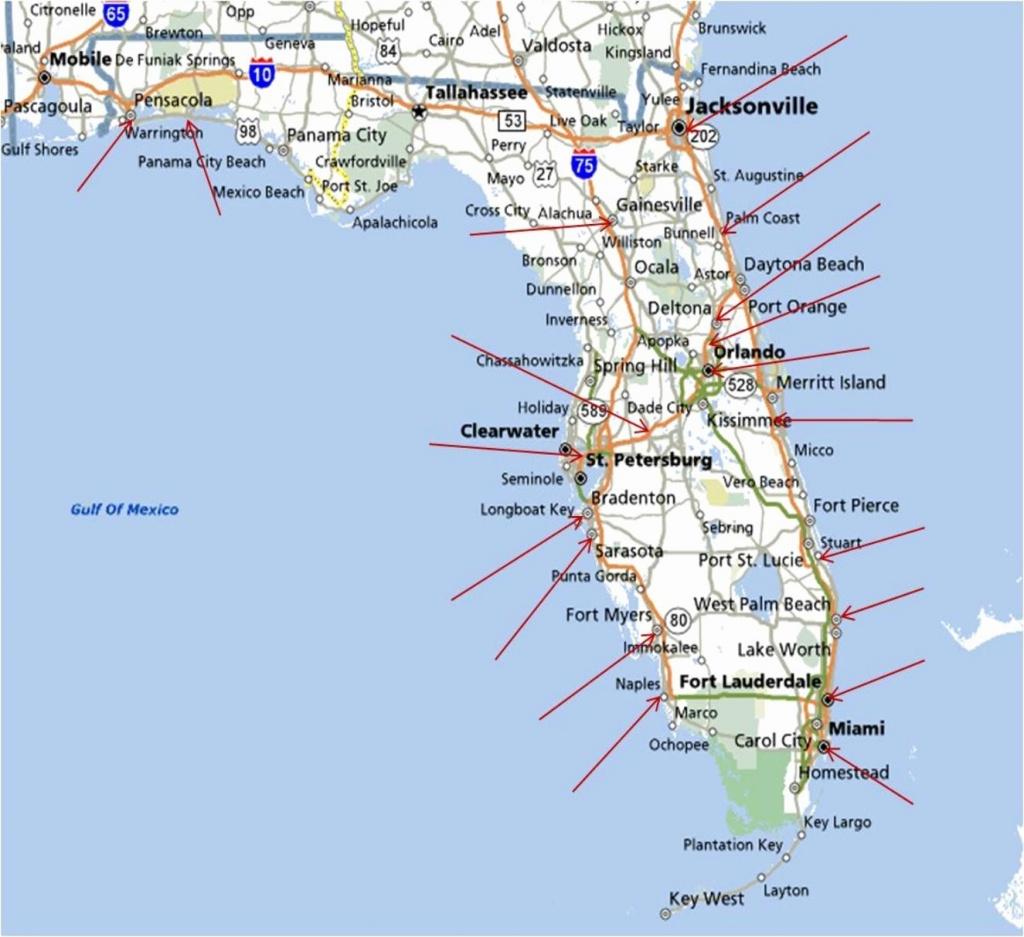 Best East Coast Florida Beaches New Map Florida West Coast ...