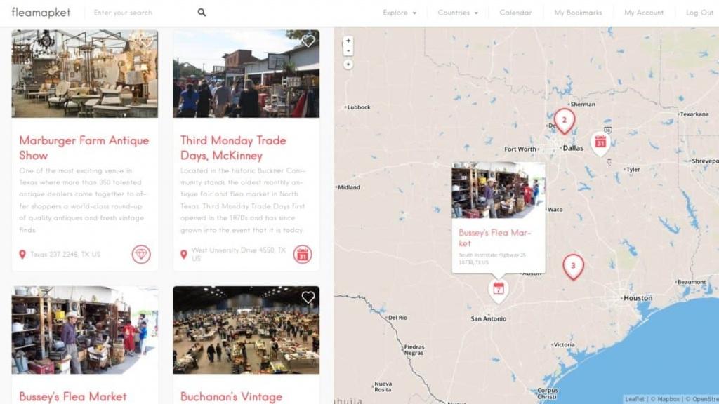 Best Flea Markets In Texas | Flea Market Insiders - Canton Texas Flea Market Map
