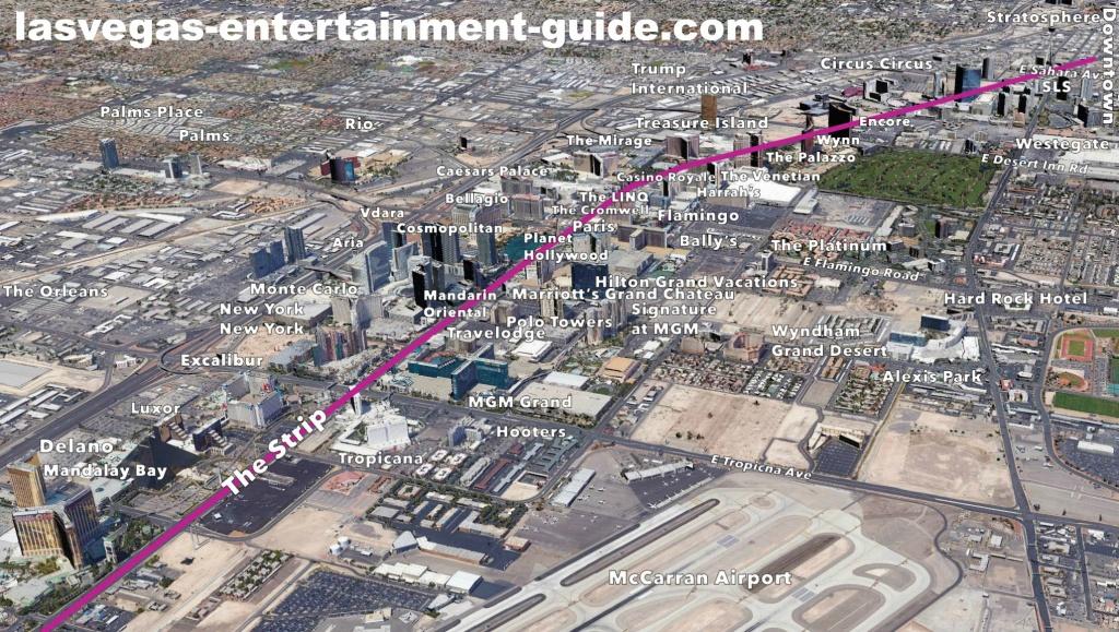 Best Las Vegas Strip Maps - Printable Las Vegas Strip Map 2017