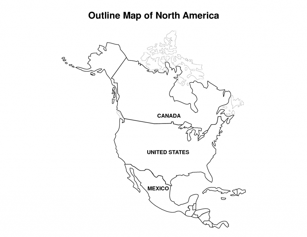 Best Photos Of North America Map Outline Printable Blank Incredible - Printable Map Of North America For Kids