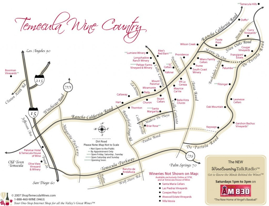 Best Temecula Wineries | Hubpages - Temecula Winery Map Printable