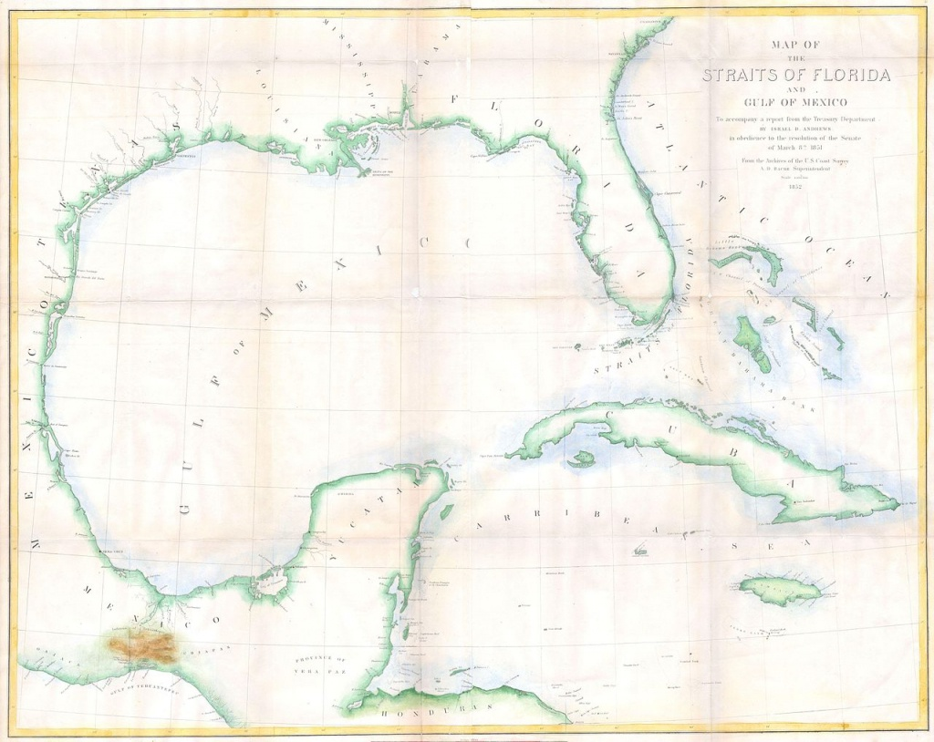 Bestand:1852 Andrews Map Of Florida, Cuba And The Gulf Of Mexico - Mexico Florida Map