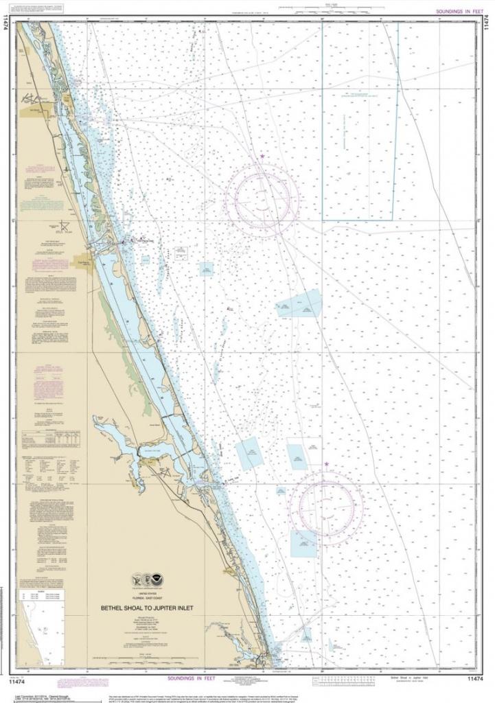 Bethel Shoal To Jupiter Inlet 2014 Nautical Map Florida 80000 | Etsy - Hobe Sound Florida Map