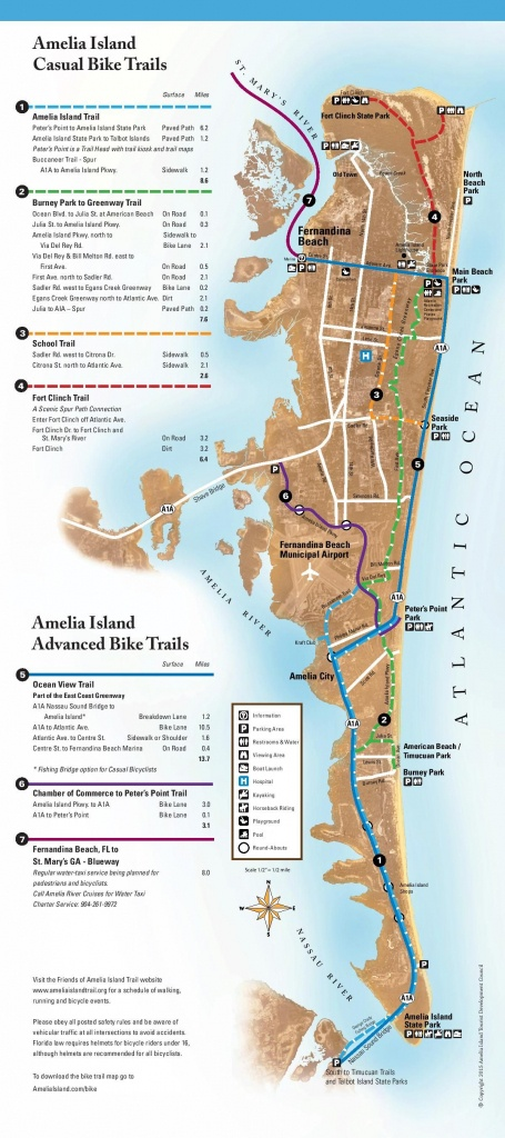Bicycling On Amelia Island - Amelia Island, Florida | Travel In 2019 - Amelia Island Florida Map