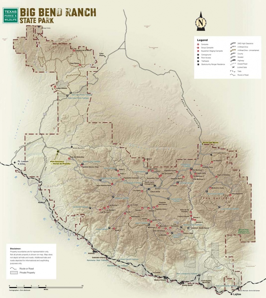 Big Bend Ranch State Park — Texas Parks & Wildlife Department - Lajitas Texas Map