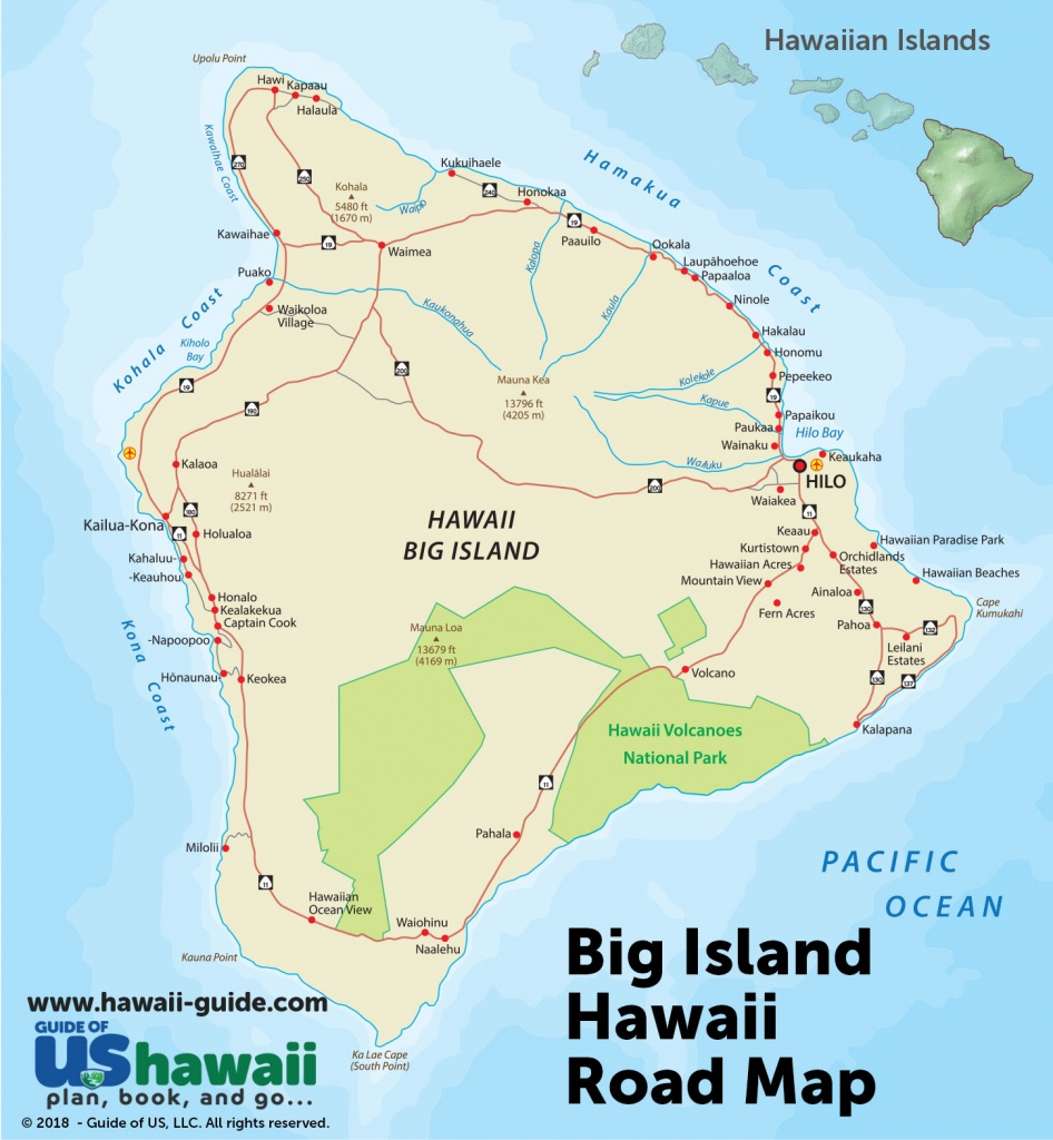 Big Island Of Hawaii Maps - Printable Map Of Hawaii
