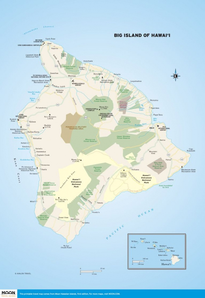 Big Island Of Hawai'i | Scenic Travel | Hawaii Volcanoes National - Printable Map Of Kauai Hawaii