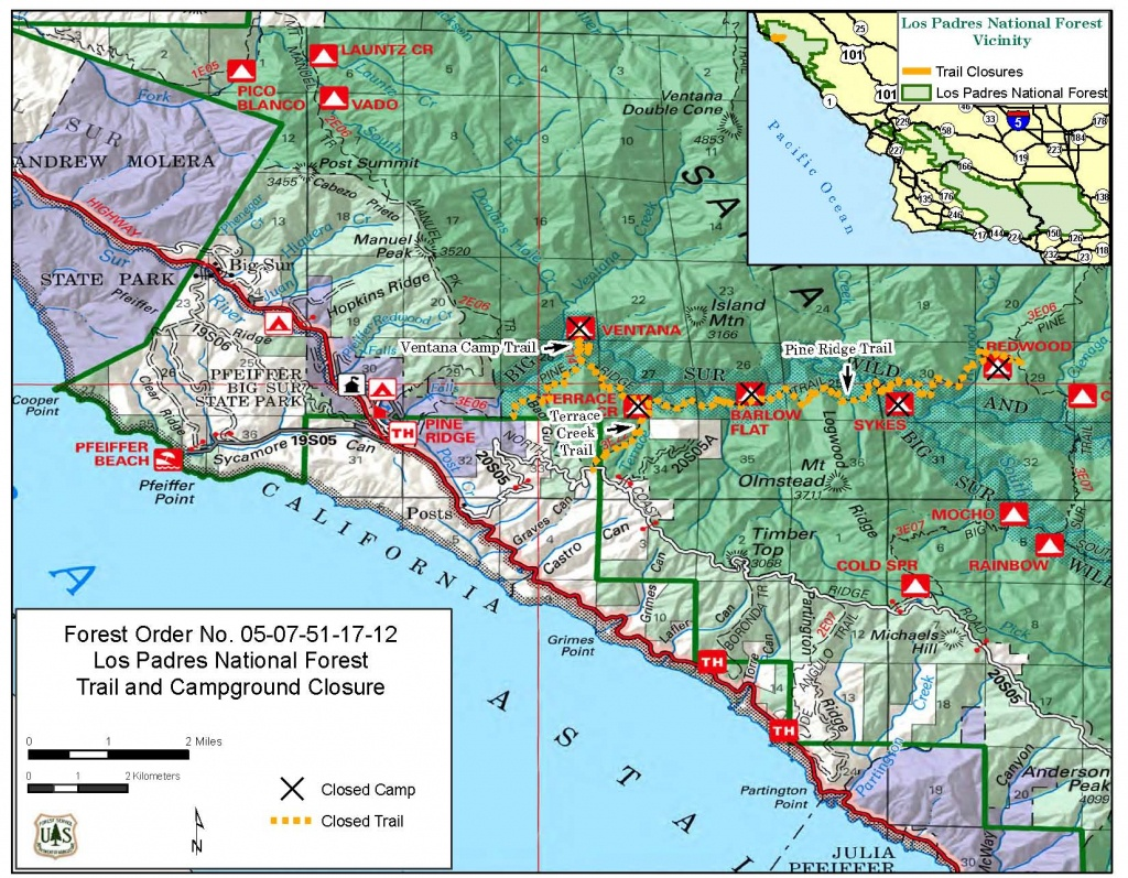 Big Sur Coastal Trails – Ventana Wilderness Alliance - California Wilderness Map