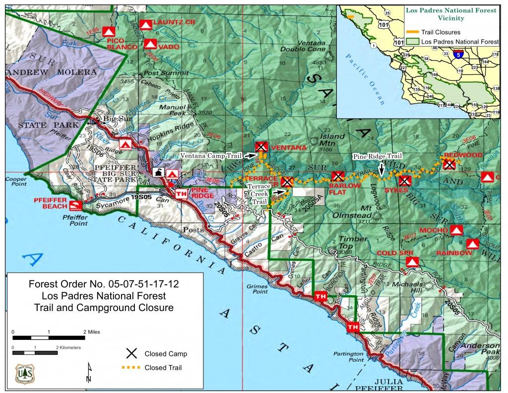 Big Sur Interactive Highway Maps With Slide Names & Mile Markers - California Road Closures Map