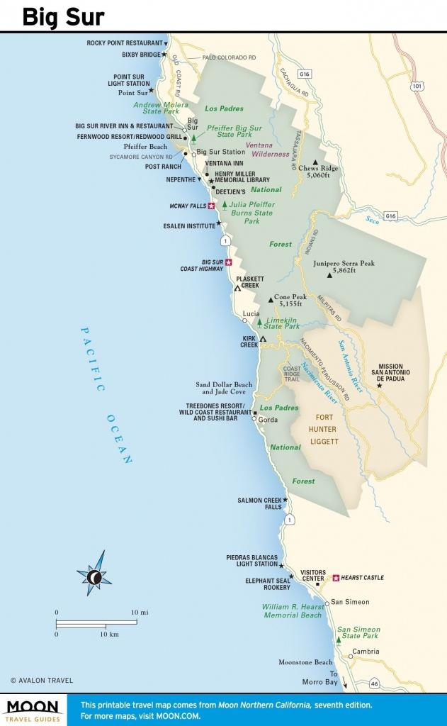 Big Sur Map California Google Maps Coast Beaches Web Art Gallery - Google Maps California