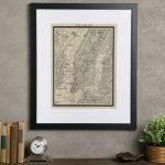 Birch Lane™ Heritage 'vintage New York City Map' Framed Print On   Vintage Texas Map Framed