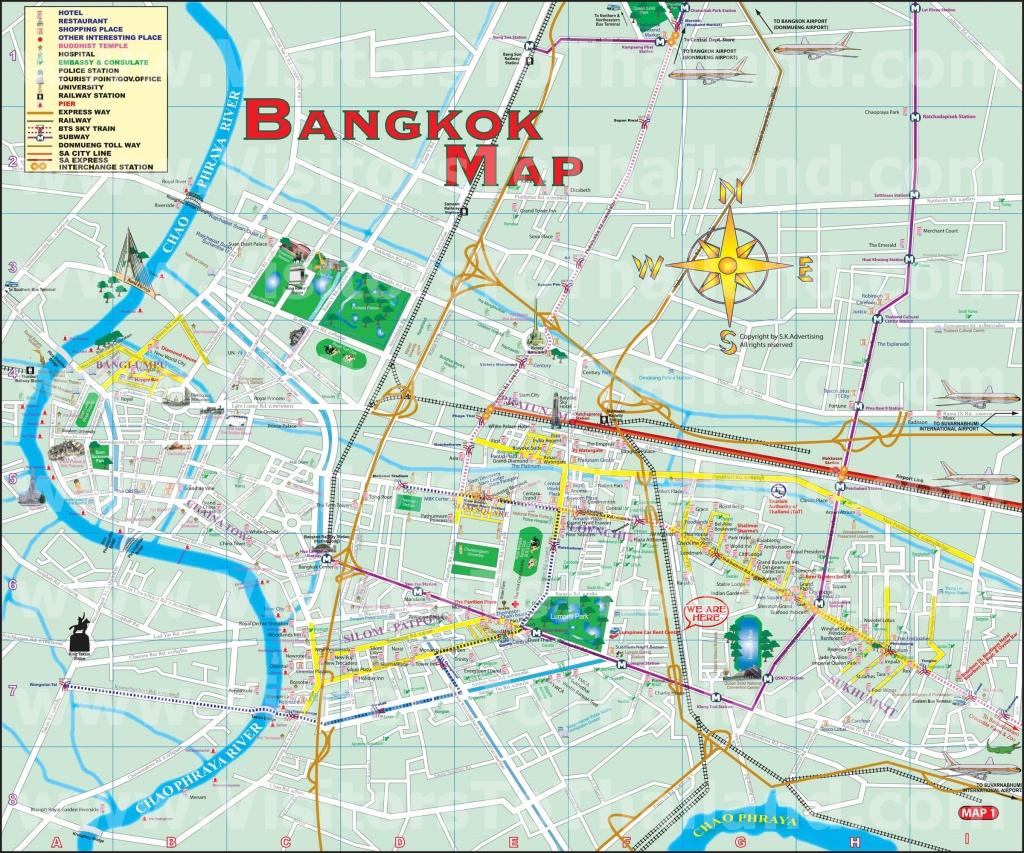 Bkk Map: Enlarge - Bangkok Tourist Map Printable