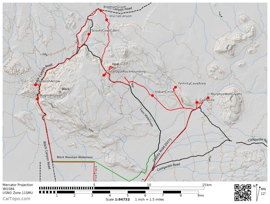 Black Mountain Wilderness - Calipidder - California Wilderness Map