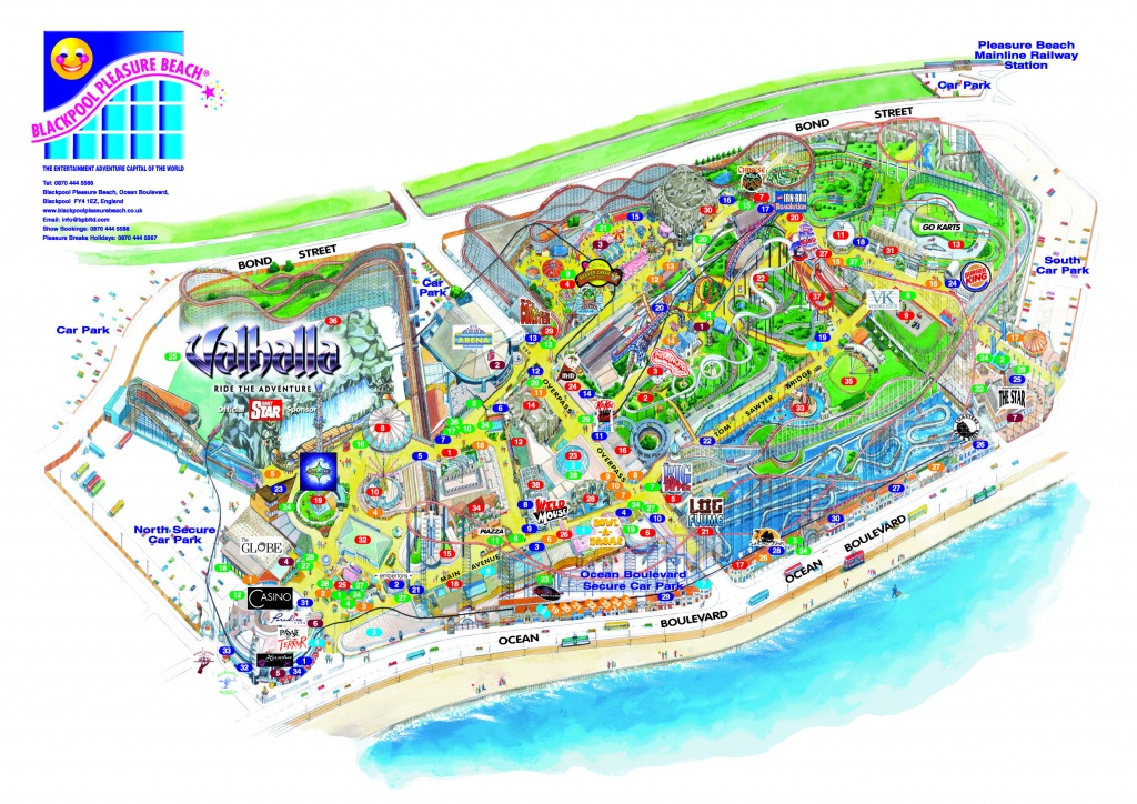 Blackpool Pleasure Beach 3D Map From Fitzpatrick Woolmer   3D Maps - Blackpool Tourist Map Printable