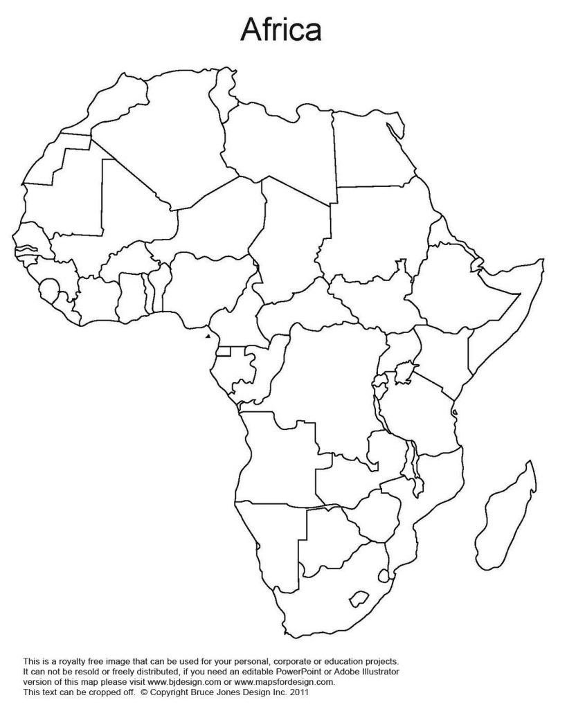 Blank Africa Map Printable | Sitedesignco - Africa Map Quiz Printable