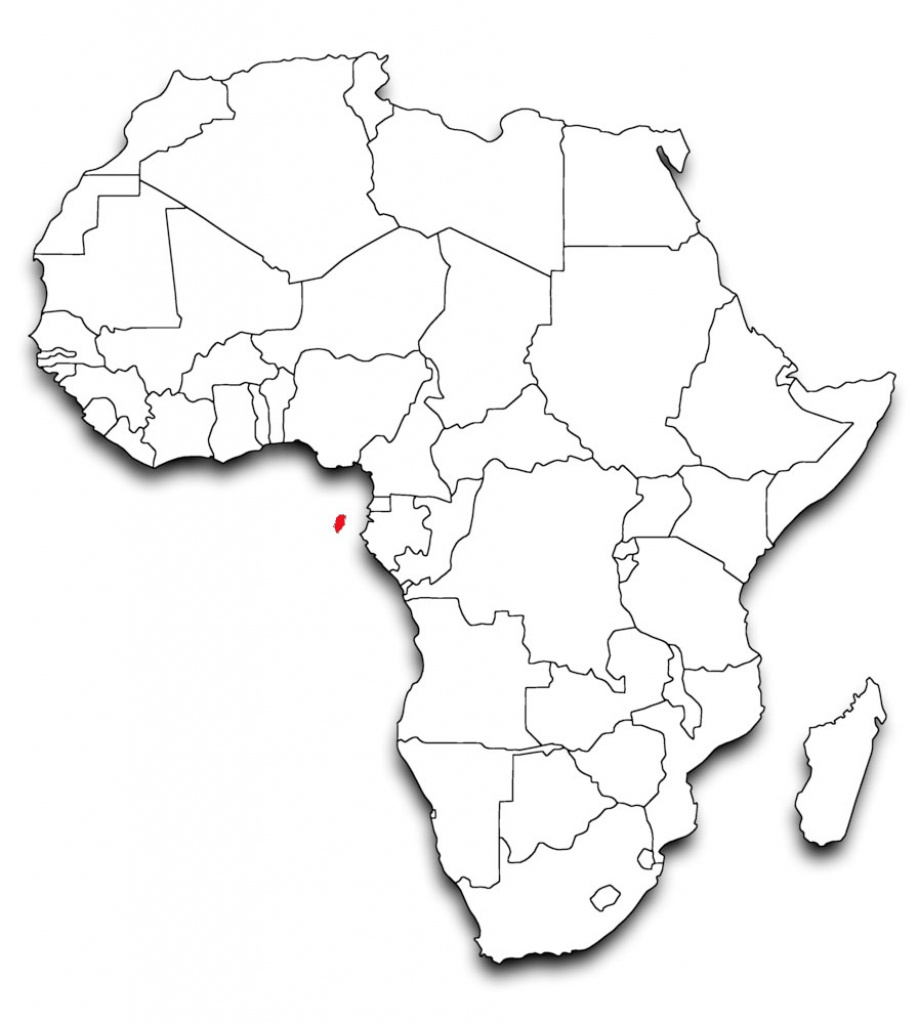 Blank Africa Map Printable | Sitedesignco - Map Of Africa Printable Black And White