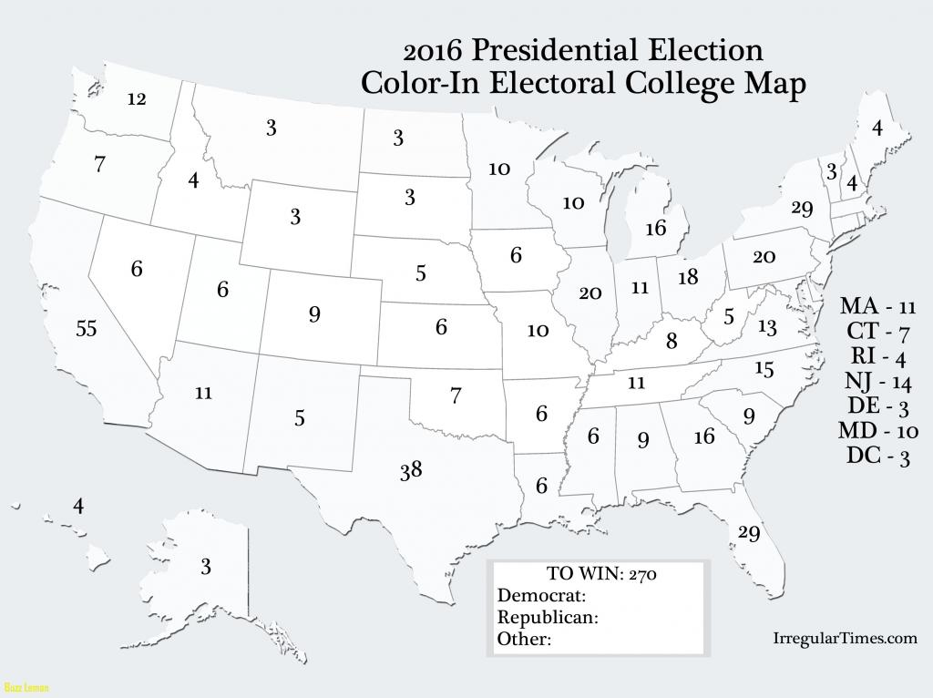 Blank Electoral Map 2016 | Sksinternational - Blank Electoral College Map 2016 Printable
