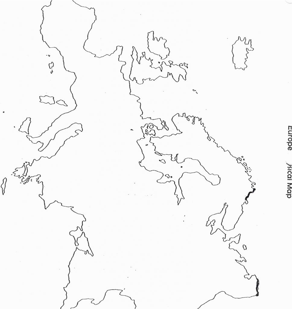 Blank Europe Map Printable | Sitedesignco - Printable Blank Physical Map Of Europe